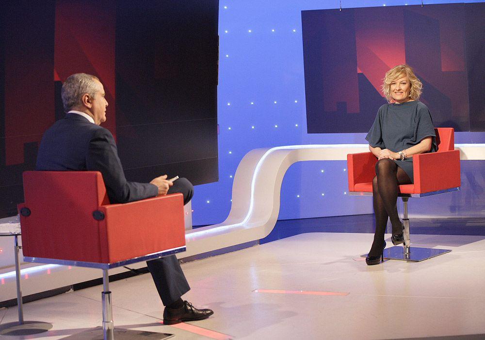 Fotografía de Pilar Jerico en entrevista